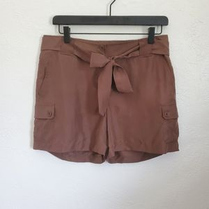 Talbots Silk Shorts Brown Size 6P New With Tags